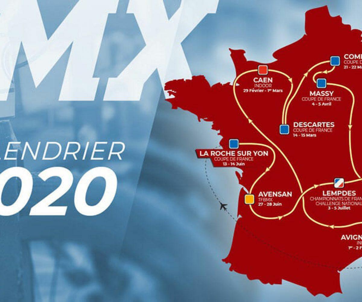 Découvrez le calendrier de la saison 2020 de BMX !   Fédération
