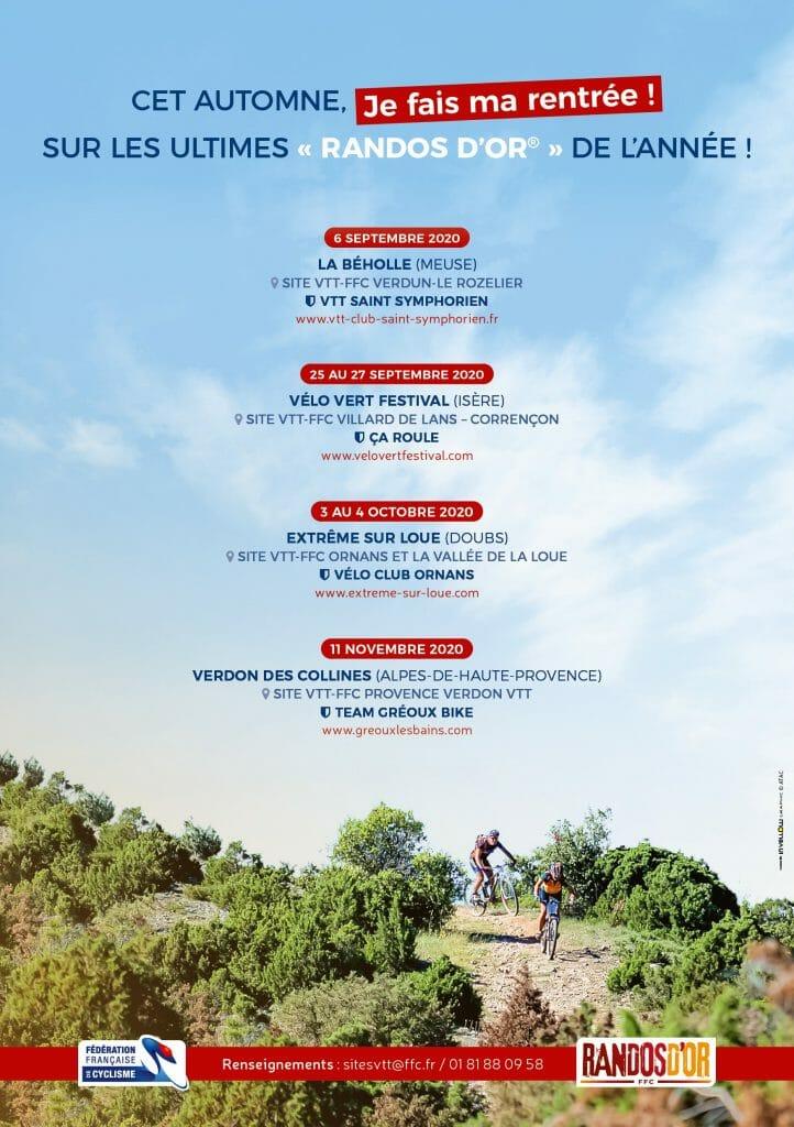 Calendrier Rando Jura 2021 Calendrier Randos d'Or   Fédération Française de Cyclisme