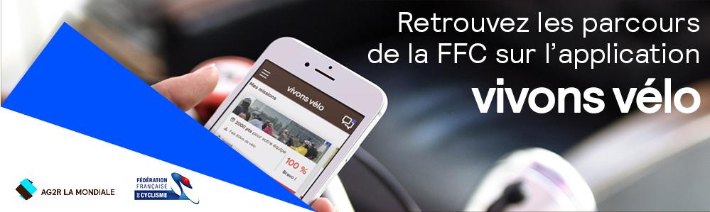 Les parcours FFC sur l'application Vivons Vélo
